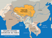 A map of the Tibetan