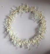 Wedding Gown Wreath $25