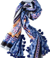 Capri Cotton Wrap - Moroccan Tile