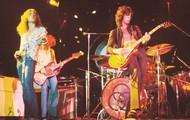 Led Zeppelin doing a concert.