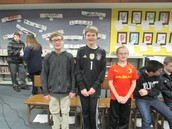 Geography Bee 6th Grade Finalists