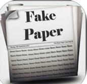 Fake newspaper generator