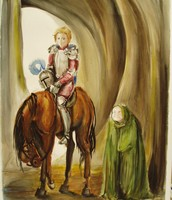 The old lady with the Knight.