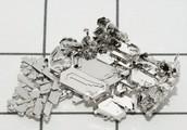 Platinum in solid-fractured form.