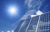 Solar panels are used for an more efficient environment