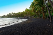 Visit Punalu'u Beach, Hawaii