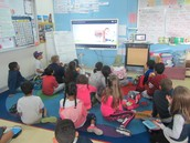 Watching a short video clip about healthy eating