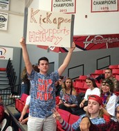 Creative signage at the GHS/KHS game