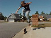 ollie over other skateboard