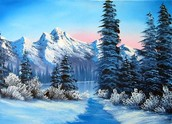A painting of winter