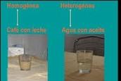 Mezclas heterogénea y homogénea