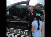 Sgt. Brian Schmidt let us check out his vehicle.