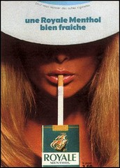 French cigarette advertisement