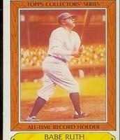 Baseball card of Babe Ruth