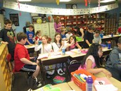 Visiting with our buddy class!