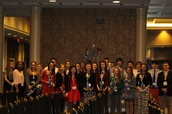 TCHS DECA with awards