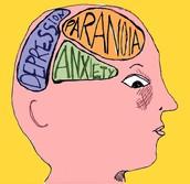 Depression, Paranoia, Anxiety