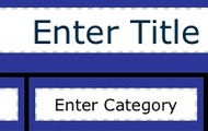 The categories and title