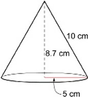 Volume of a Cone Example