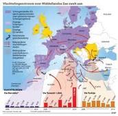 Oorzaak en gevolg vluchtelingen stroom