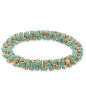 Vintage Twist Bracelet- Turquoise