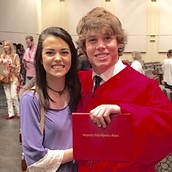 Katie and Daniel (her bf) at his graduation!