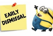 MAY 26 & 27 EARLY DISMISSAL
