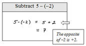 Example for subtracting integers