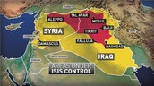 ISIS controlled map