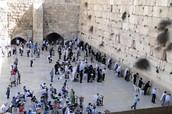 The western/ wailing wall is in Jerusalem.