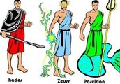 These are Ancient Greek gods who also happen to be brothers