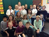 Mrs. Hansen's 3rd grade class stops long enough to take a quick Valentine group picture.