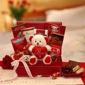 Chocolate & Teddy Bear Basket