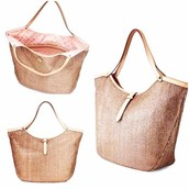 SOLD!!! Riveira  Tote Metallic-- perfect now AND later tote! $94, now $45