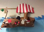 Designed an authentic looking Viking ship.