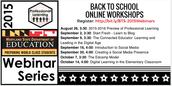 Back to School Online Workshop Series