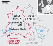 This is a map of the Berlin Wall