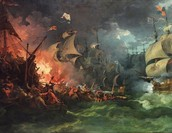 Fiery Battle off England's Coast