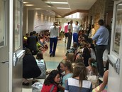 6th graders waiting with anticipation.