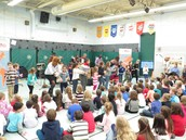 Students were invited to dance to the rythms.