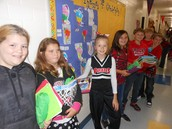 5th graders sporting their red and black