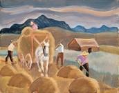 Les foins à Saint-Urbain (1937)