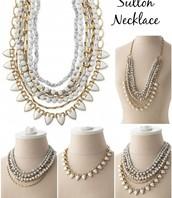 White Sutton Necklace