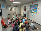 Mrs. Truckowski shares with her students about having a growth mindset