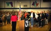 Giving Thanks for Our Veterans Assembly, November, 2015