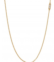 Pave Double Bar Necklace gold