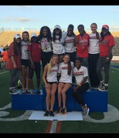 Girls Track -Second in Area