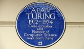 Plaque for Alan Turing