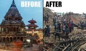 Patan Durbar Square after the quake.