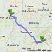 A Map Showing the Trip Flat Stanley Took